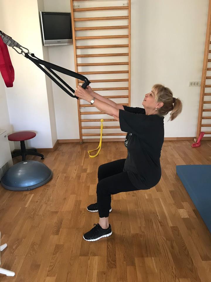 Îndrăgita actriță face sport pentru a se menține în formă
