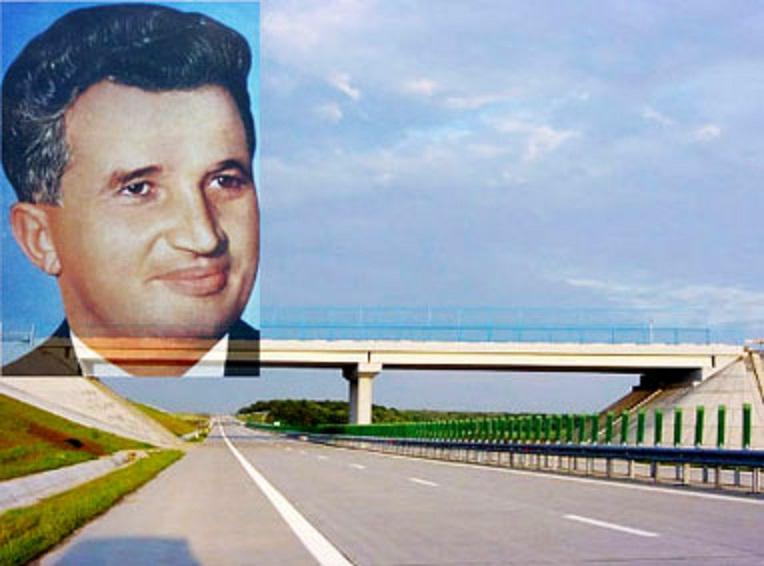 Regimul comunist al lui Nicolae Ceayșescu a construit prima autostradă din România, A1, București - Pitești, între anii 1967 și 1972. După 1989 au mai fost construiți, în 30 de ani, alți proape 700 de kilometri de autostradă