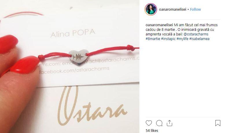 Postarea Oanei Roman pe Instagram
