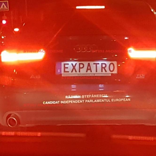 Șoferul cu numere anti-PSD e din nou în atenția poliției! Are plăcuțe noi de înmatriculare, tot personalizate. Ce scrie pe ele!