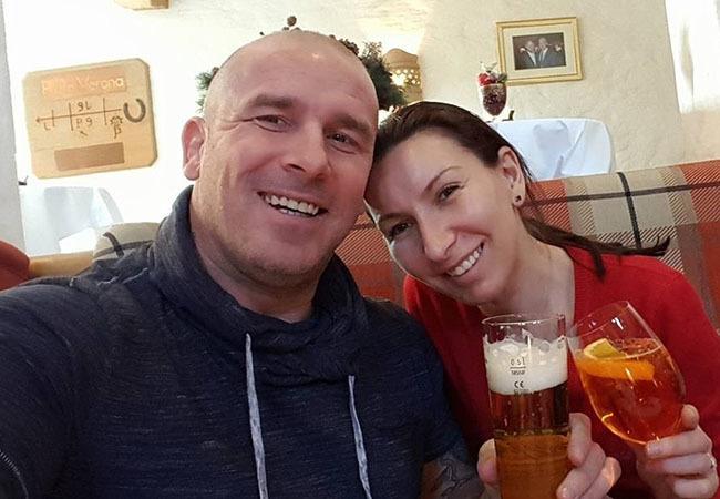 Cătălin Zmărăndescu și superba sa soție