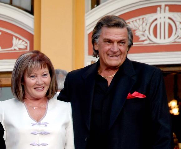 Florin Piersic alături de soția sa, Anna Torok