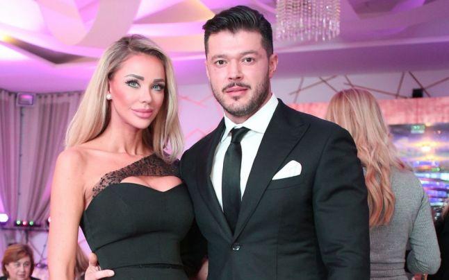 Bianca Drăguşanu, alături de Victor Slav pe vremea când formau un cuplu