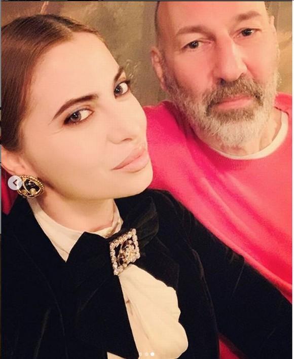 Beatrice Mamara, alături de soțul său, de naționalitate elvețiană