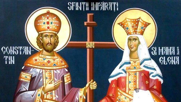 Sfinții Constantin și Elena. Sursa foto: realitatea.net