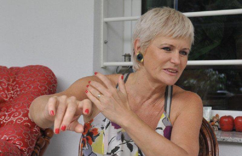 Monica Tatoiu, în timpul unui interviu