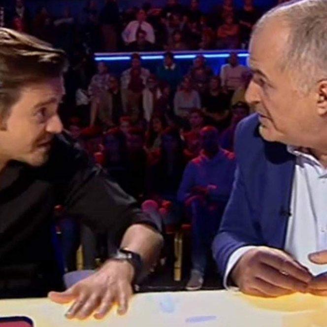 Fanii emisiunii Românii au Talent vor duce cu siguranță dorul schimbului savuros de replici dintre Florin Călinescu și Mihai Petre. Sursa foto: protv.ro