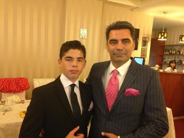 Marcel Toader, alături de fiul său, Maximilian. Sursa foto: click.ro