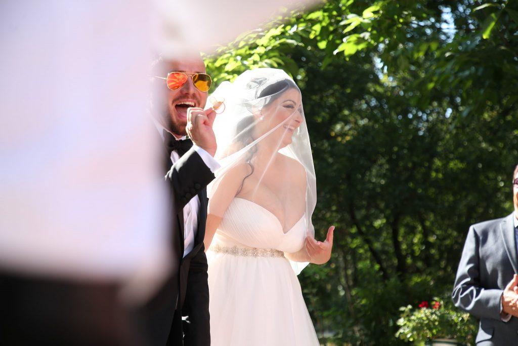 Gabriela Cristea și Tavi Clonda în ziua nunții