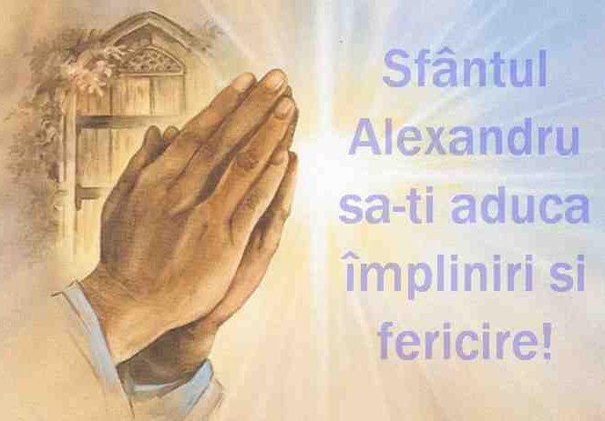 Mesaje SMS-uri și felicitări de Sfântul Alexandru