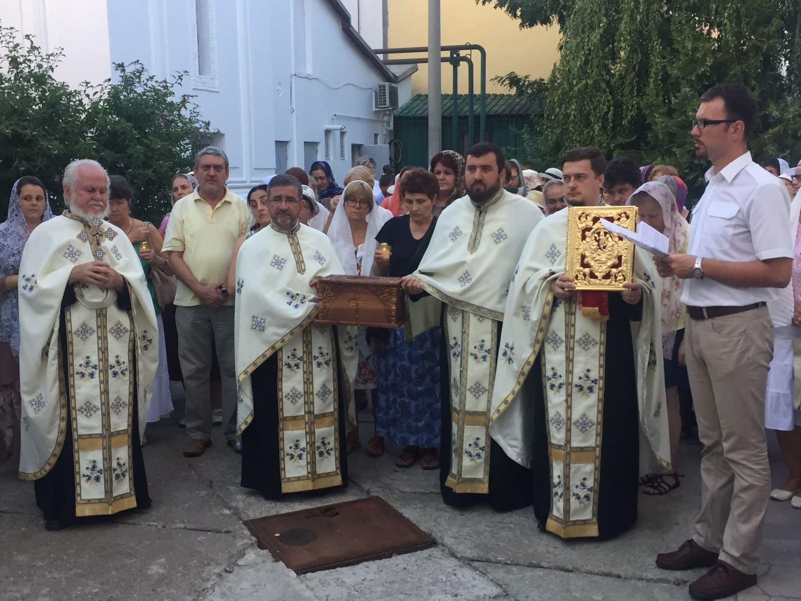 Procesiune cu Sfintele Moaște ale Sfântului Ierarh Miron