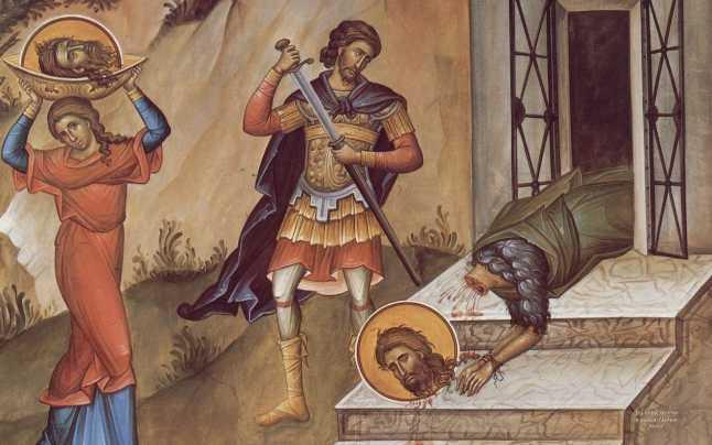 Pe 29 august, credincioșii prăznuiesc tăierea capului Sfântului Ioan Botezătorul. Sursa foto: adevarul.ro