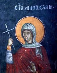 Sfânta muceniță Agatoclia