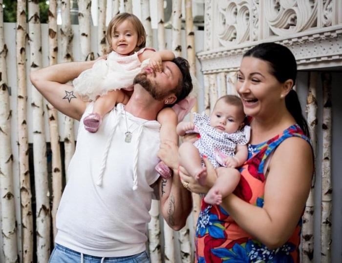 Gabriela Cristea și Tavi Clonda au două fetițe