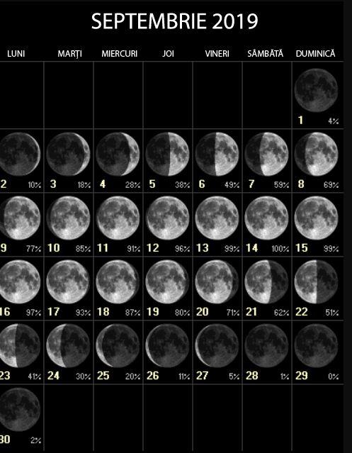 Lună Nouă 29 septembrie 2019