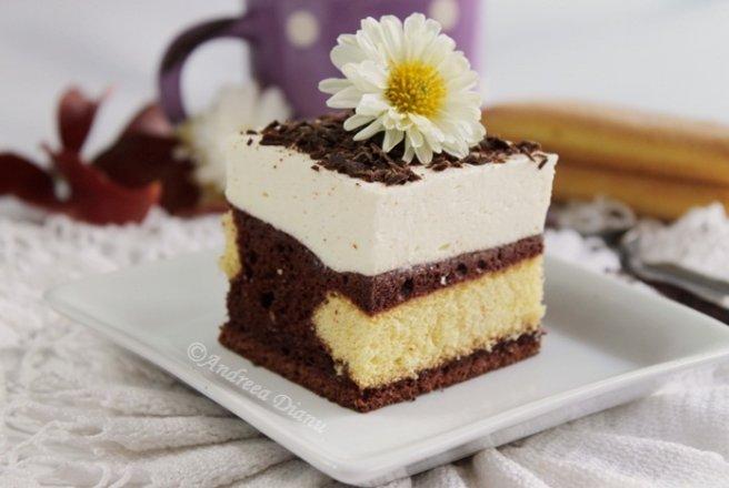 Prăjitură cu ciocoloată și vanilie. Sursa foto: bucataras.ro