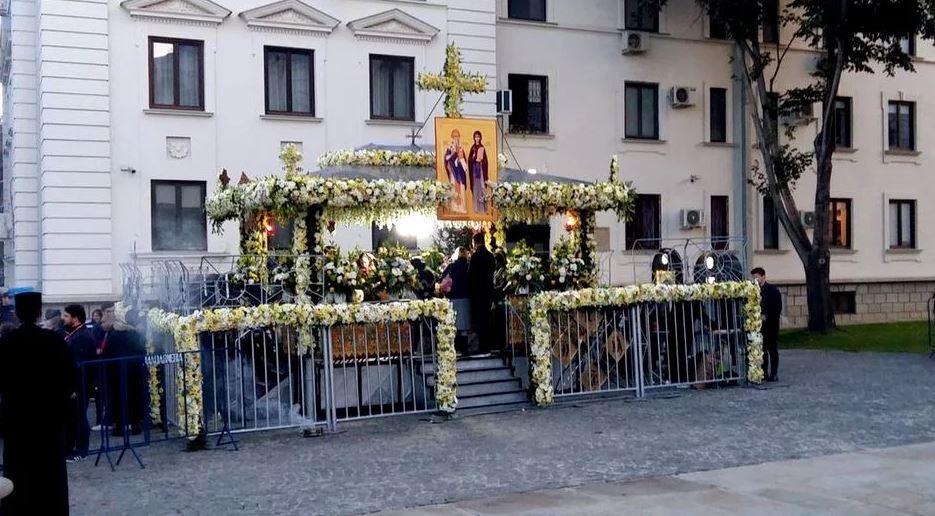 Racla cu moaștele Cuvioasei Parascheva a fost scoasă din Catedrală
