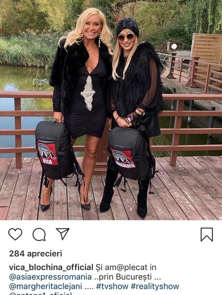 Vica Blochina și Margherita, gata de Asia Express. Sursa foto: Instagram