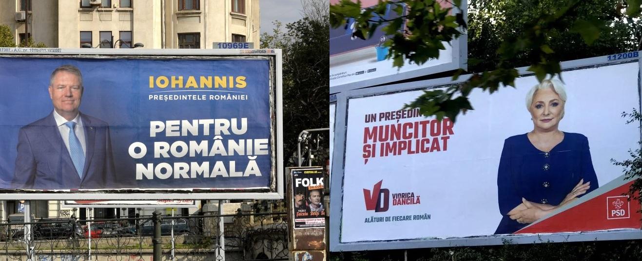 traian băsescu afișe electorale dăncilă iohannis