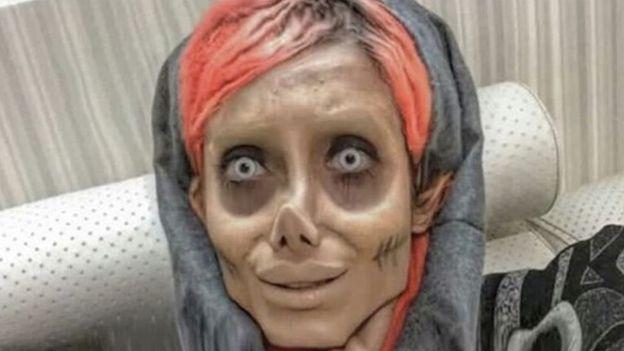 Femeia care și-a făcut nenumărate operații estetice ca să arate ca Angelina Jolie a fost arestată. Sahar Tabar