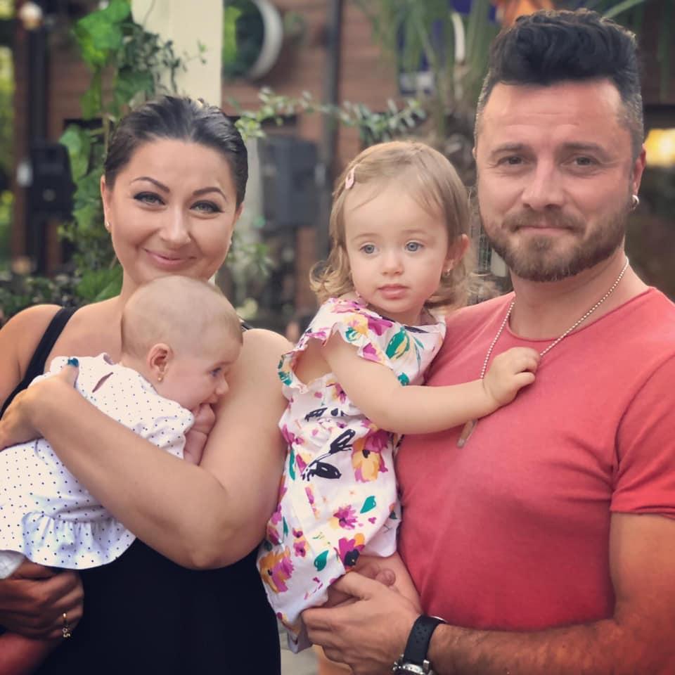 Gabi Cristea și Tavi Clonda au două fetițe