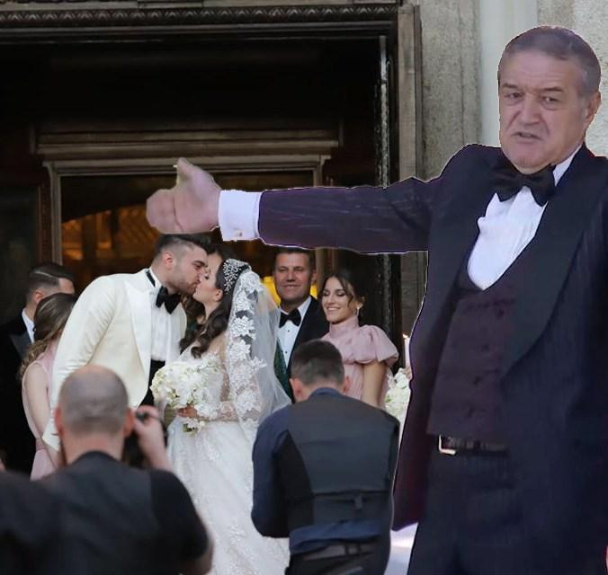 Gigi Becali, DISCURS la nunta! Toti au inceput SA RADA! Mai bine TACEA...Ce a putut sa spuna
