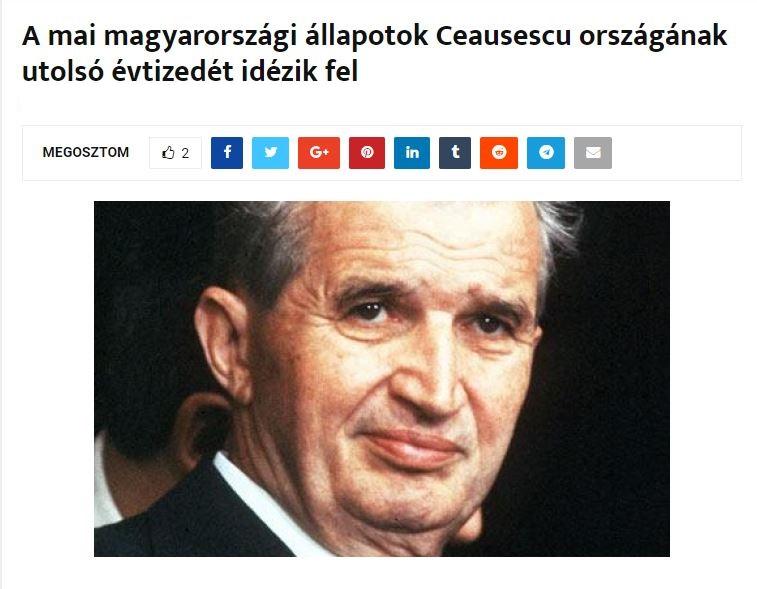 Ungurii l-au INVOCAT pe Ceaușescu într-un mod neașteptat. Totul are legătură cu ORBAN