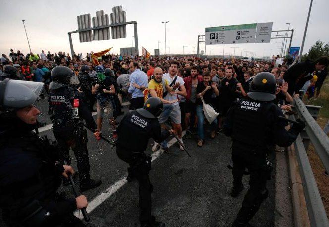 Proteste din nou în Catalonia