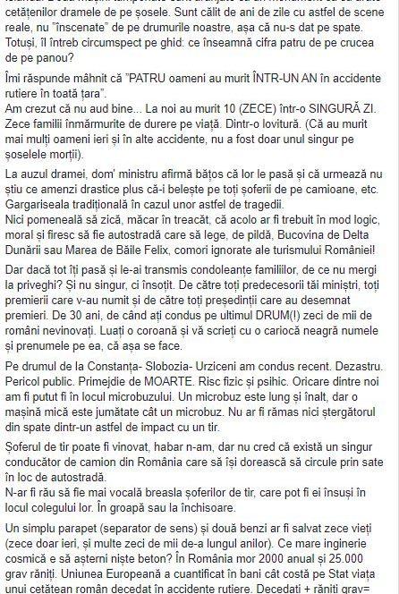Ștefan Mandachi, despre accidentul din Ialomița