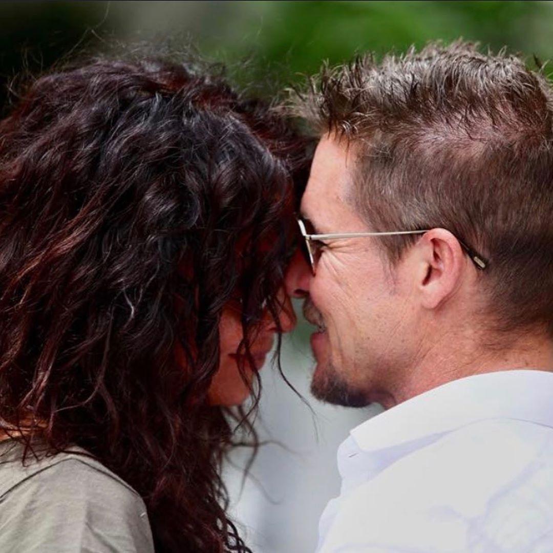 mihaela rădulescu și felix baumgartner sărutându-se