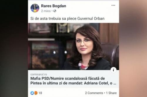 Gafă uriașă a lui Rareș Bogdan