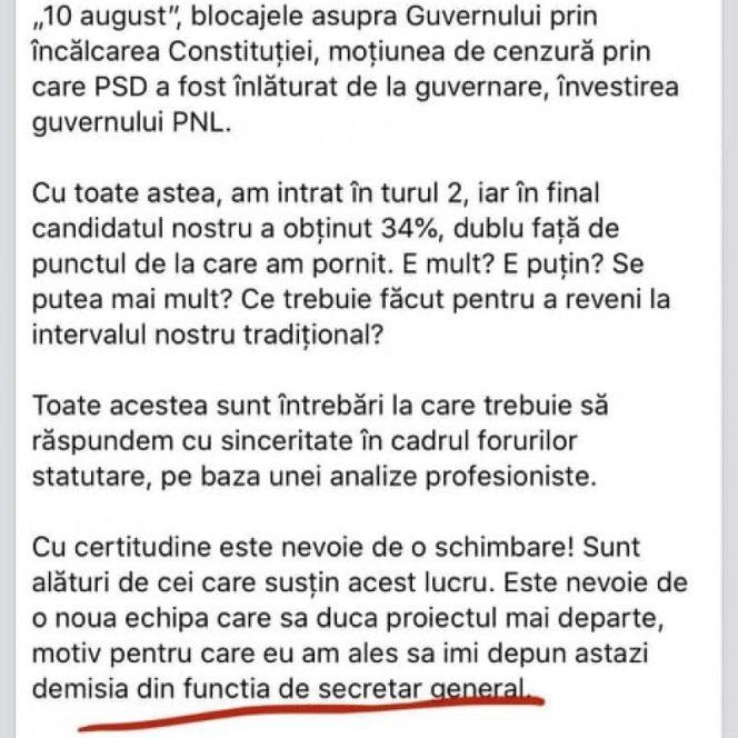 Mihai Fifor și-a dat demisia pe Facebook! Fifor