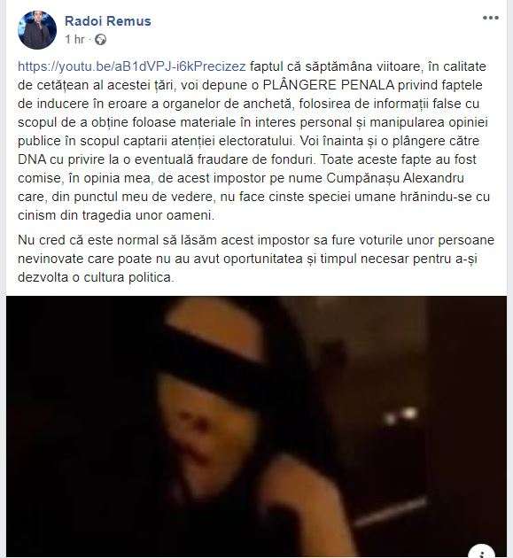 Remus Rădoi va depune o plângere penală pe numele lui Alexandru Cumpănașu