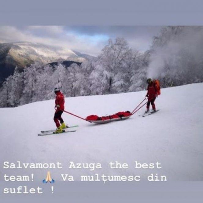 Iubitul Andreei Antonescu, Ștefan Manolache, a fost lovit pe pârtie la Azuga