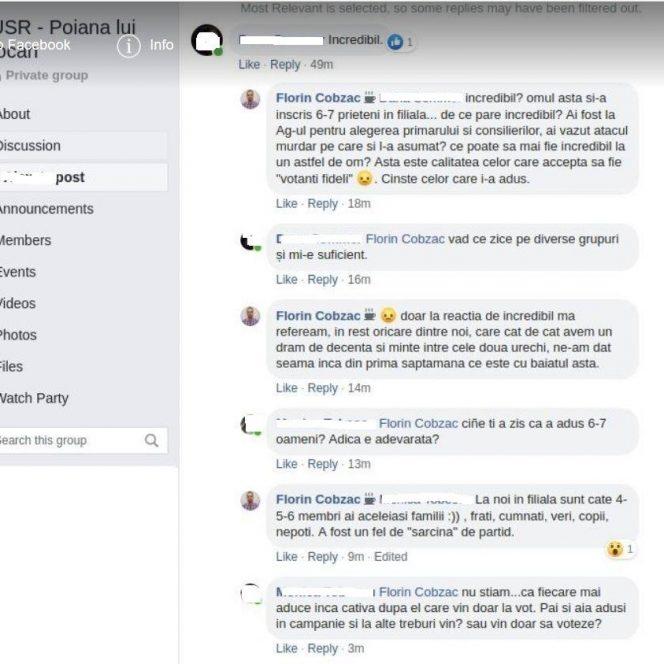 Rivalul lui Clotilde Armand de la USR Sector 1, Florin Cobzac, a fost suspendat din partid