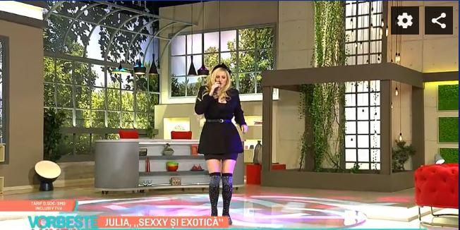Julia Chelaru, apariție de senzație la 23 de ani la lansarea primului album al trupei Exotic. Sursa foto: Captură Pro TV