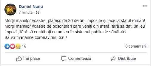 Daniel Nanu înjură românii din Diaspora pe Facebook