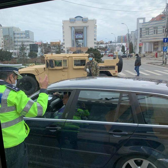 Armata a ieșit în stradă și la Cluj