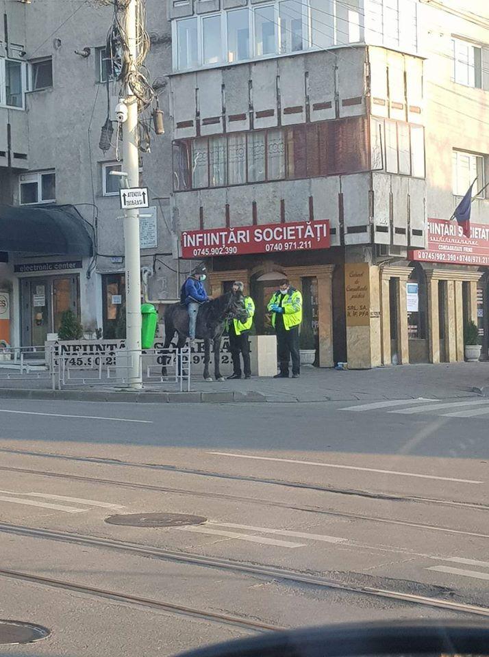 Călăreţul a fost tras pe drepta de poliţişti