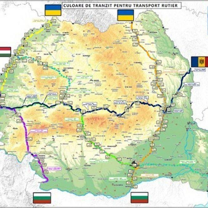 Culoarele de tranzit aprobate de România