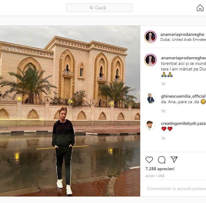 Anamaria Prodan, mesaj pe Instagram