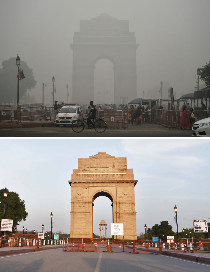 New Delhi, octombrie 2019, poluare, carantină