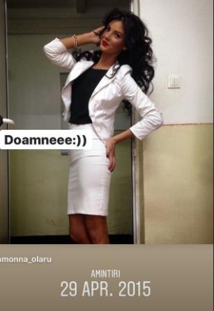 Ramona Olaru în timpul studenției